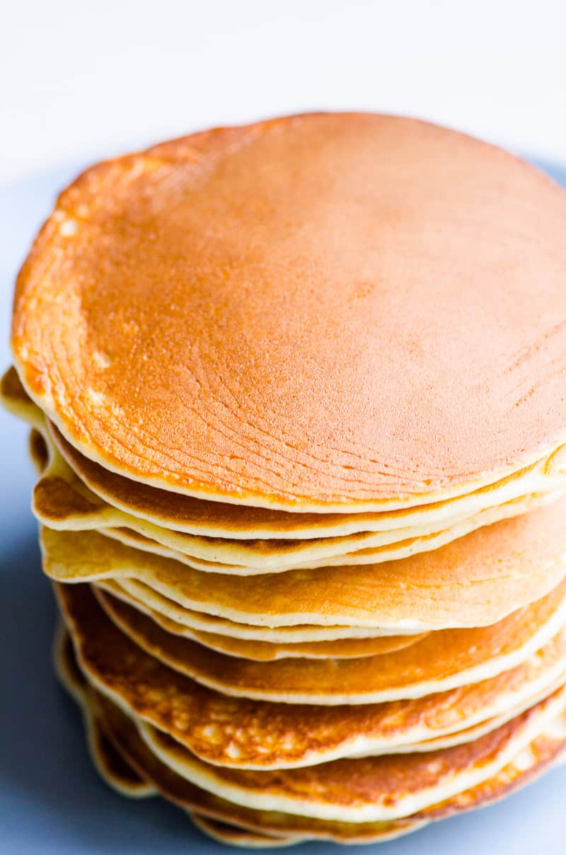 protein pancakes on a plate