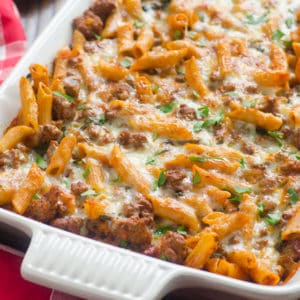 Ground Turkey Pasta Bake