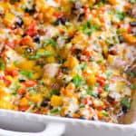 baked chicken peppers mushrooms