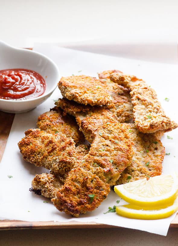 Almond Crusted Chicken Ifoodreal Healthy Family Recipes