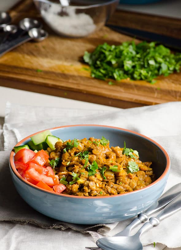 green lentil curry