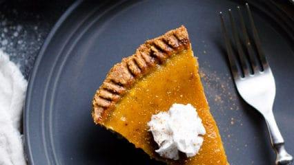 Healthy Pumpkin Pie (Video)