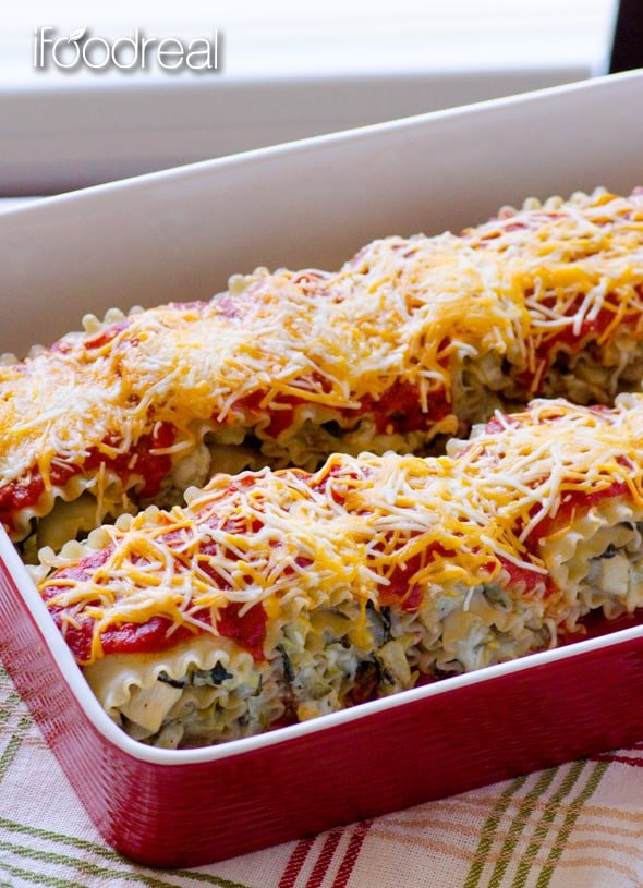 baked-clean-chicken-artichoke-lasagna-roll-ups