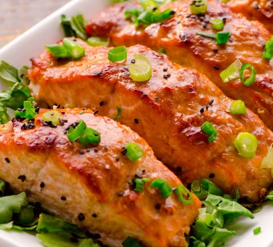 Peanut Butter Salmon with Miso
