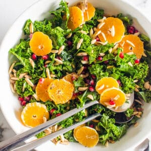 Massaged Kale Salad with Winter Fruit