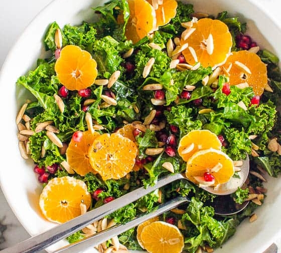 Massaged Kale Salad with Winter Fruit