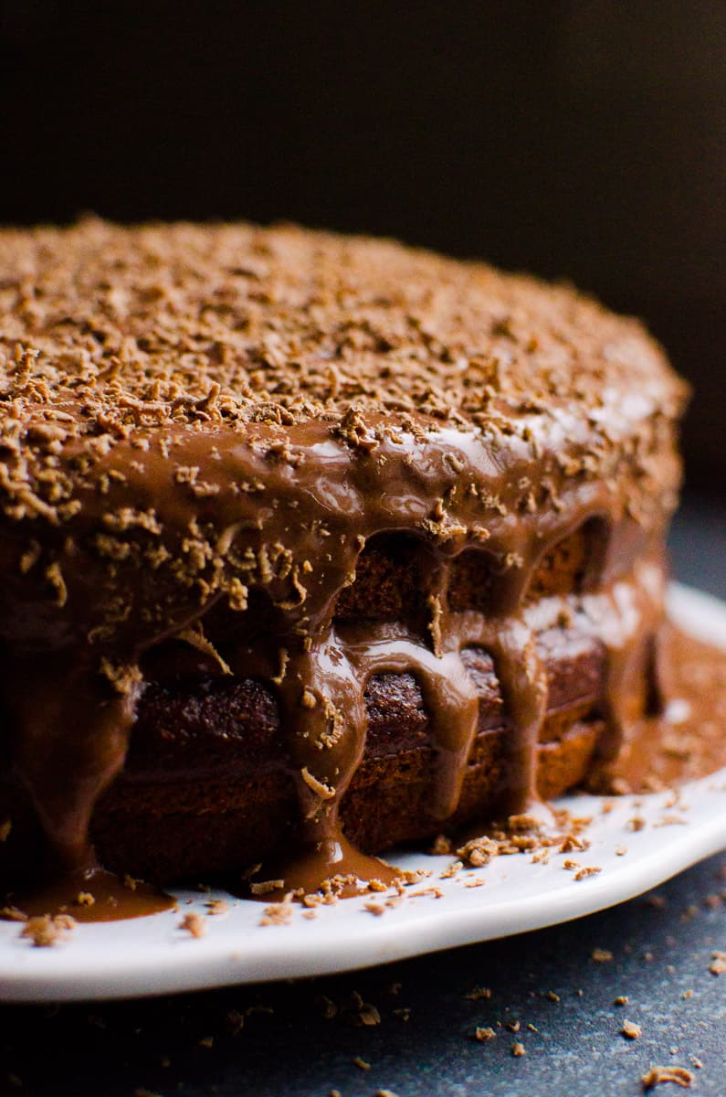 Dark Chocolate Greek Yogurt Cake