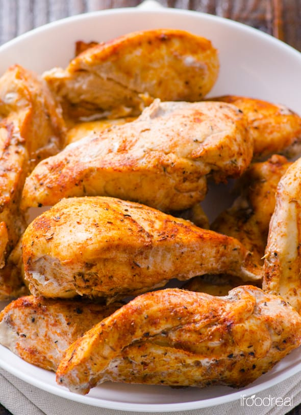 Cajun Chicken Recipe is oven baked chicken breasts with homemade cajun seasoning. Perfect for quick healthy dinner and meal preps. | ifoodreal.com