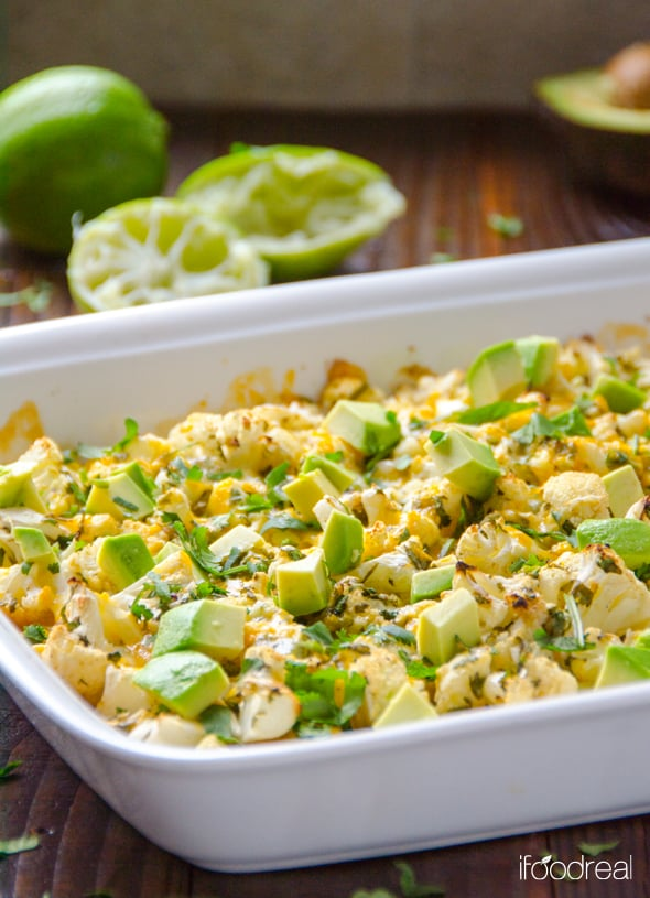 Cilantro Lime Cauliflower with Avocado