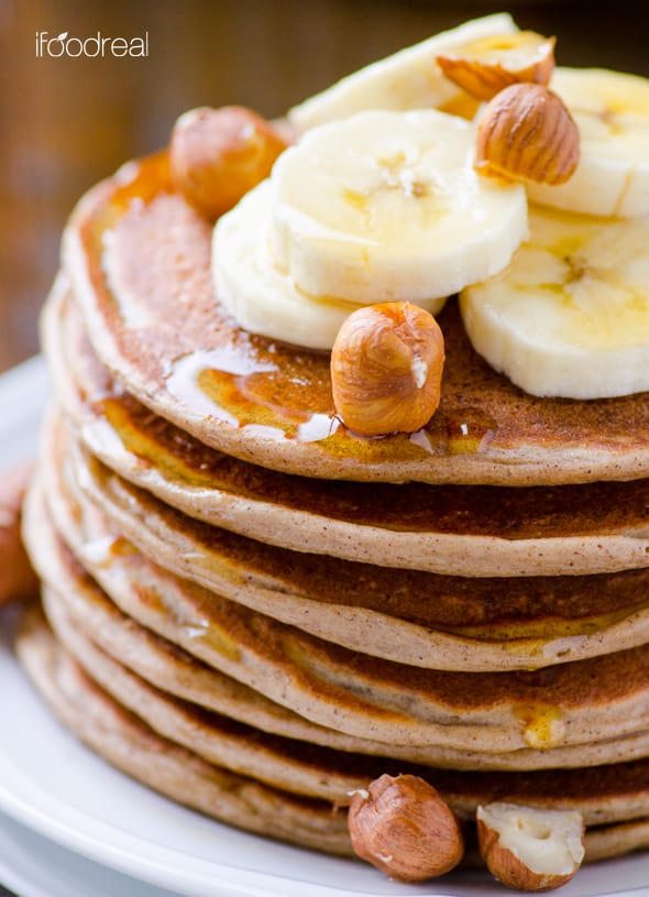 Cottage Cheese Protein Pancakes on plate