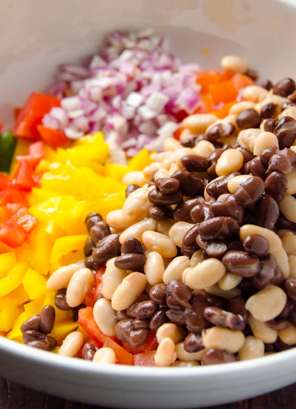 Mexican bean salad recipe ifoodreal healthy family recipes mexican bean salad recipe is a healthy vegetable salad with avocado mixed beans tomato forumfinder Gallery