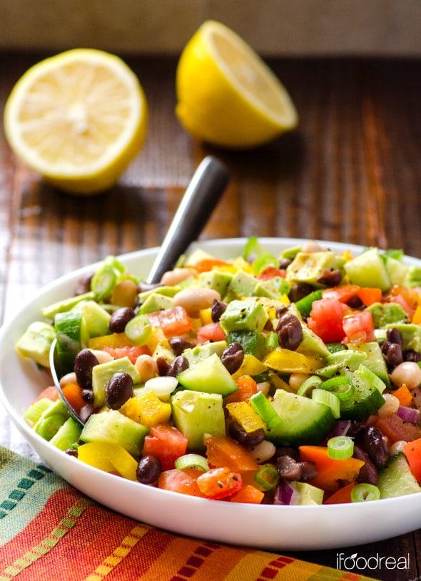 Mexican Bean Salad Recipe - iFOODreal
