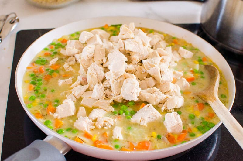 how to make Healthy Chicken Pot Pie step by step