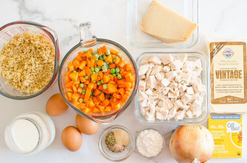 Healthy Chicken Pot Pie ingredients