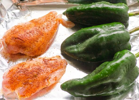 Chicken for Low Carb Chicken Enchiladas