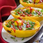 Avocado and Egg Spaghetti Squash Boats Recipe