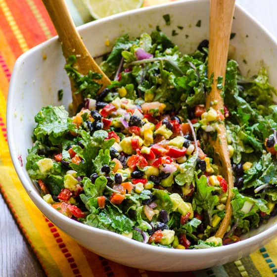 Mexican Kale Salad - iFOODreal - Healthy Family Recipes