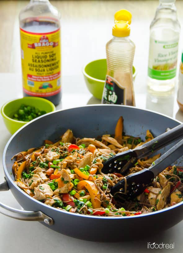 Healthy Peanut Chicken Soba Noodles