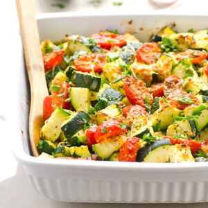 Zucchini Tomato Bake (Video)