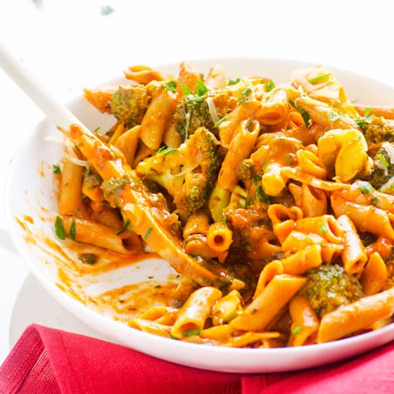 Penne with Broccoli in One Pan - iFOODreal - Healthy Family Recipes