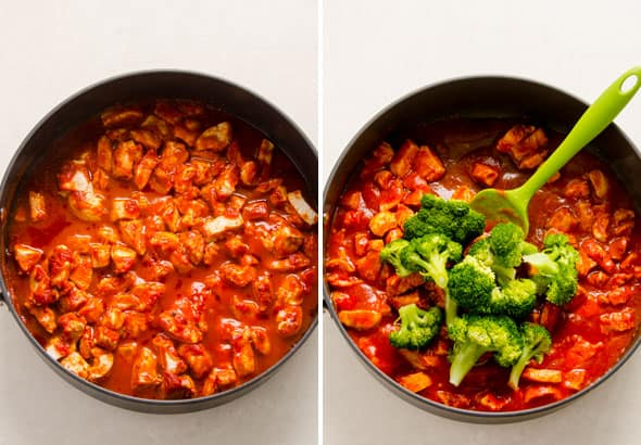 Buffalo Chicken Quinoa Recipe made in one pot with broccoli for easy 20 minute healthy dinner recipe. | ifoodreal.com