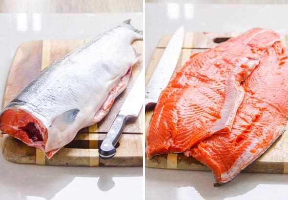 how to fillet whole salmon