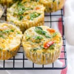 Quinoa Egg Muffins with Sundried Tomato & Spinach
