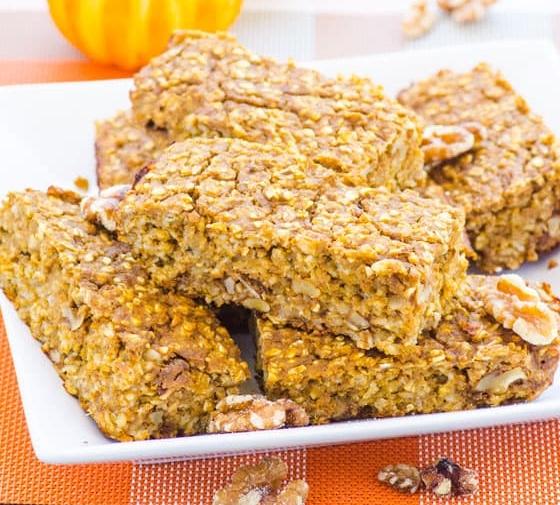 Pumpkin Protein Oat Bars
