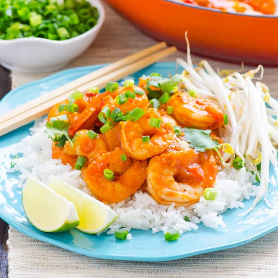 30 Minute Thai Shrimp and Squash Curry | iFOODreal