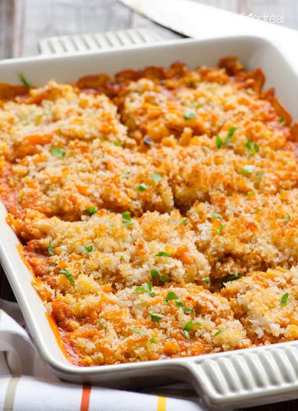 Spaghetti Squash Casserolewith Turkey