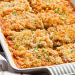 Spaghetti Squash Bake with Turkey and Cheese