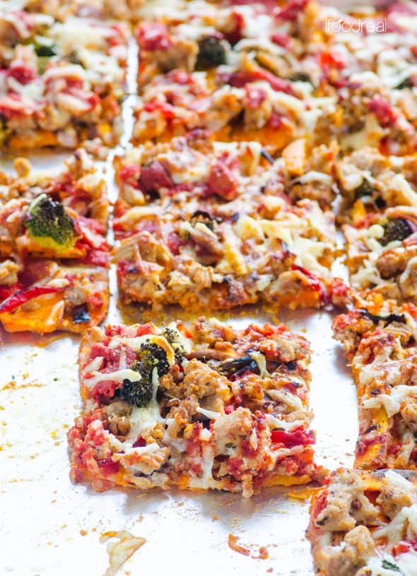 Sweet Potato Pizza close-up