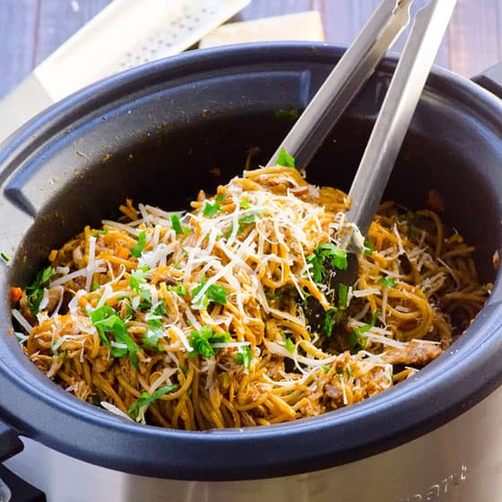 Slow Cooker Chicken Spaghetti