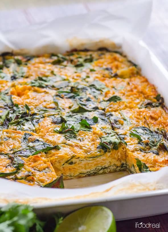 sweet potato egg bake