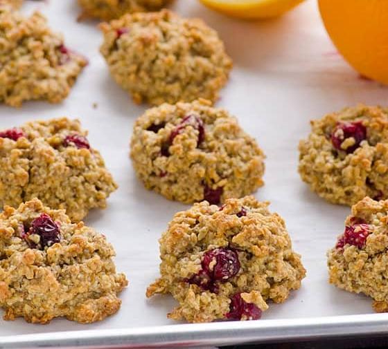 Cranberry Orange Oatmeal Cookies
