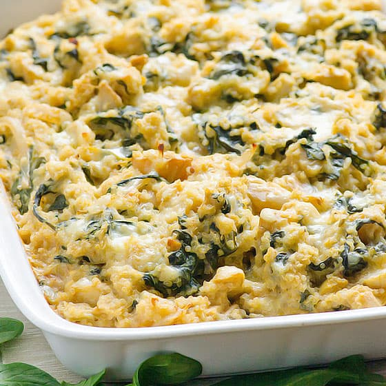 Spinach Artichoke Quinoa Casserole Ifoodreal Healthy Family Recipes
