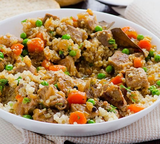 Quinoa Stew with Beef
