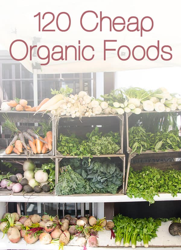 Organic on a Budget - From produce to baking needs, this 120 Cheap Organic Foods list will make your transition to organic foods much easier and affordable. | ifoodrealcom.bigscoots-staging.com
