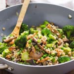 Broccoli and Portobello Mushrooms Stir Fry