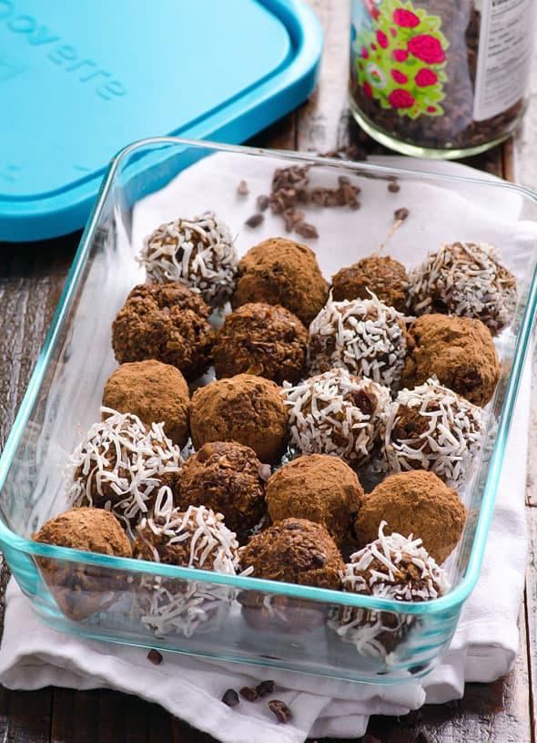 Cacao Nibs Brownie Bites Recipe