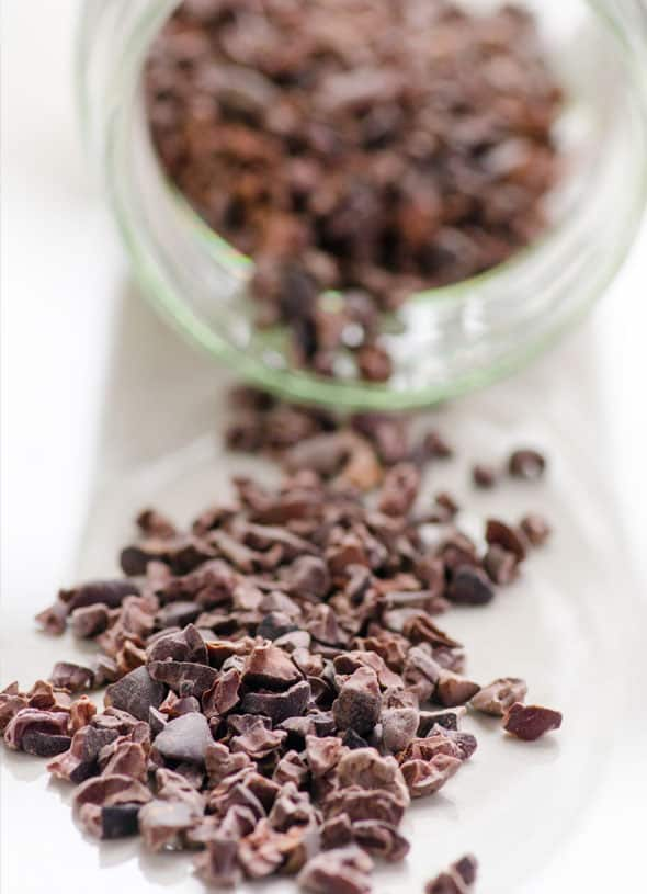 Cacao Nibs Brownie Bites Recipe is crunchy, naturally sweetened, nut free and full of antioxidants healthy snack. Plus ideas how to use cacao nibs. | ifoodreal.com