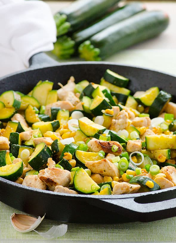 This Garlic Chicken Zucchini And Corn Is A 20 Minute Gluten Free Dinner Recipe That
