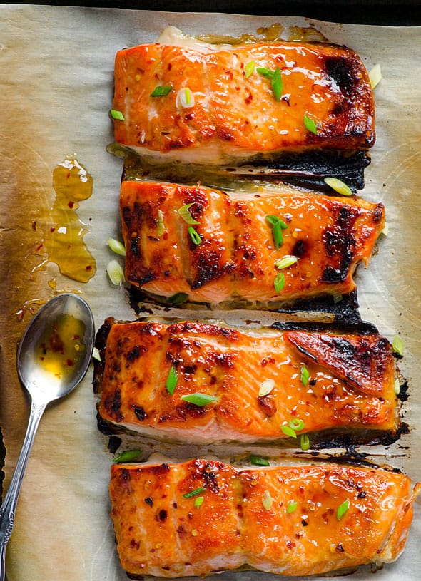 Thai Baked Salmon Recipe contains 3 ingredients and takes 15 minutes. Out of this world baked salmon recipe! Rave reader reviews! | ifoodreal.com