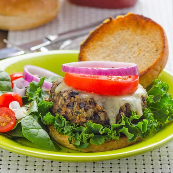 Black Bean Zucchini Burger - iFOODreal - Healthy Family Recipes