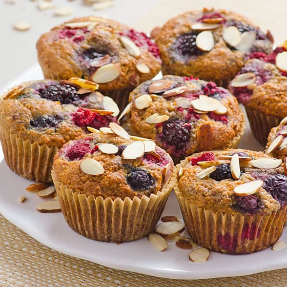 Berry Almond Muffins