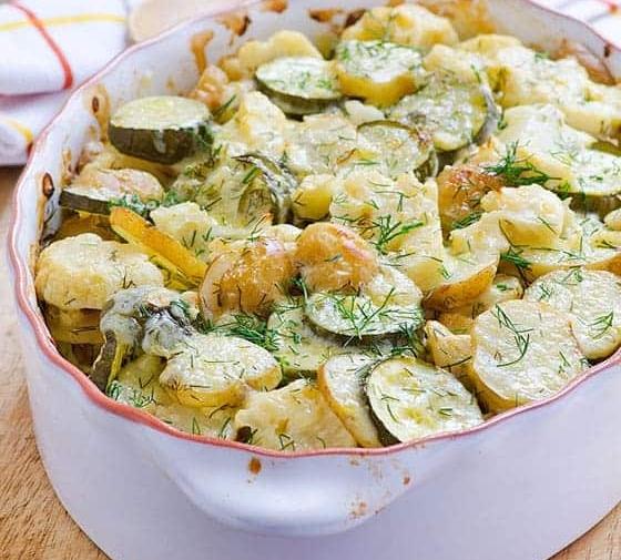 Zucchini Potato Bake