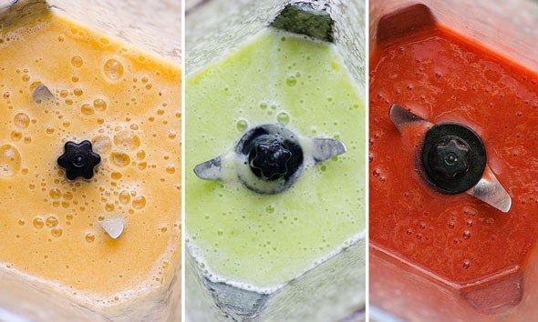 3 Flavours of Healthy Popsicles in blender