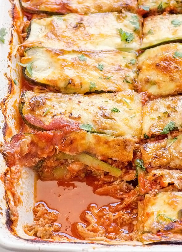 Chicken Zucchini Casserole Enchiladas Recipe With Layers Of Cooked Shredded Chicken Sliced Zucchini And Homemade