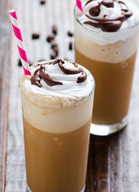 Healthy Frappuccino Recipe is sweet, delicious and low calorie treat for a hot summer day. | ifoodreal.com