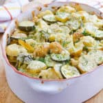 Ukrainian Cauliflower, Zucchini and Potato Bake